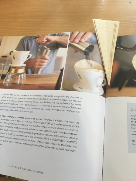 One of reading material at ABCD School of Coffee. It's actually about WTF; water, temperature, filling (pouring).